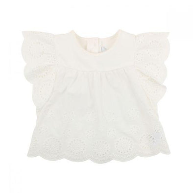Bebe Isla Broidery Top