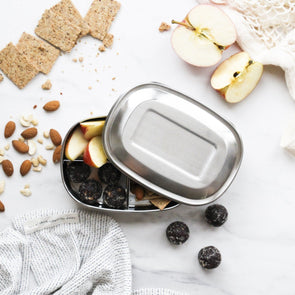 Stainless Steel Bento Snack Box Three Compartment