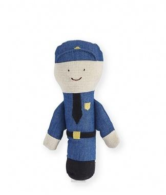 Patty Policeman Baby Rattle