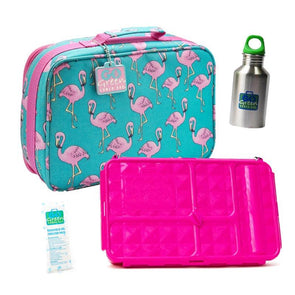 Go Green Original Lunch Box Set Flamingo