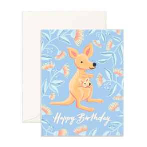 Fox & Fallow Card Birthday Kangaroo