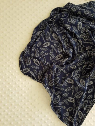 Navy Plume Swaddle Wrap