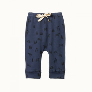 Nature Baby Cotton Drawstring Pants Wilderness Night