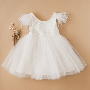 Karibou Kids Angelina Feather & Lace Gown