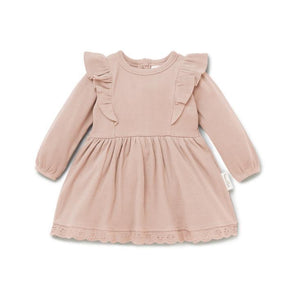 Aster & Oak Cameo Rose Ruffle Dress