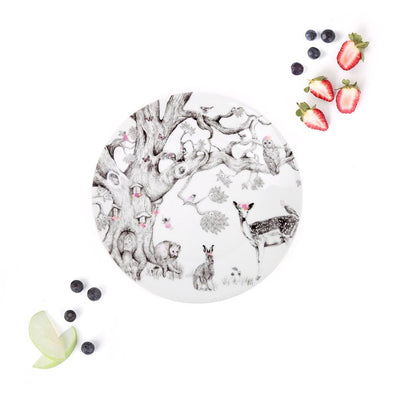 Love Mae Porcelain Plate Enchanted Forest