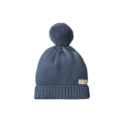 Nature Baby Alpine Pom Pom Beanie Deep Blue