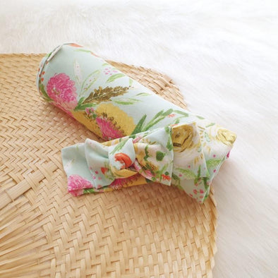 Summer Bouquet Headband Swaddle Set