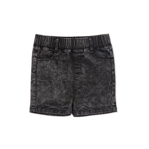 Kapow Kids Denim Boys Shorts - Acid Black