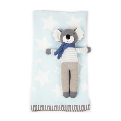 Koala Knit Toy & Blanket Gift Set