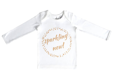 Sparkling New LS Tee Gold