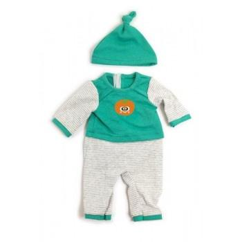 Miniland Clothing Green Stripe Pjs 38-42cm