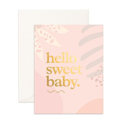 Fox & Fallow Card Hello Sweet Baby