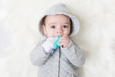 Becalm Baby Teething Mitt Teal