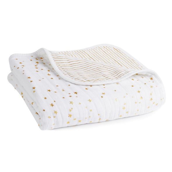 Classic Dream Blanket Metallic Gold