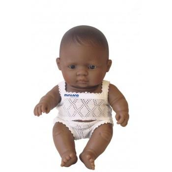 Miniland Anatomically Correct Baby Doll Latin American Girl, 21 cm