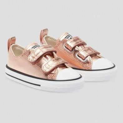 Converse Toddler 2V Low Top Metallic Blush Gold