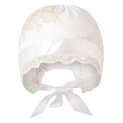 Madison Christening Bonnet Beige