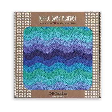 O.B. Designs Ripple Blanket Sky