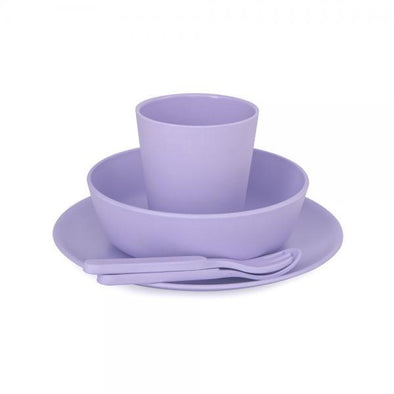 Bobo & Boo Bamboo Dinner Set Lilac