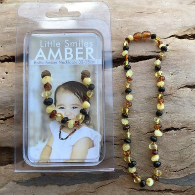 Amber Necklace 33-35cm Mixed