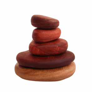 In-Wood Stacking Stones 5 pcs Natural