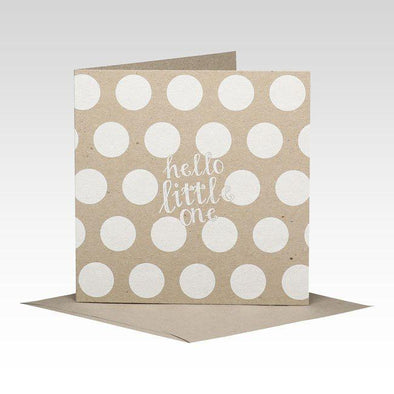Hello Little One Spotty Card