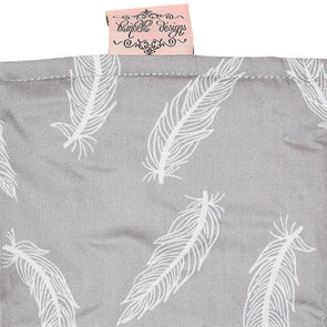 Bambella Designs Trolley Liner Grey Feathers