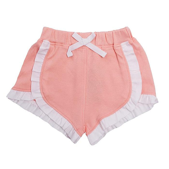 Peach Ruffle Shorts