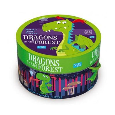 Sassi Dragons In The Forest Book & Puzzle