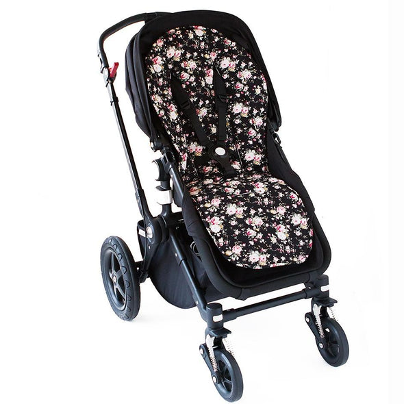 Bambella Designs Pram Liner Black Flower