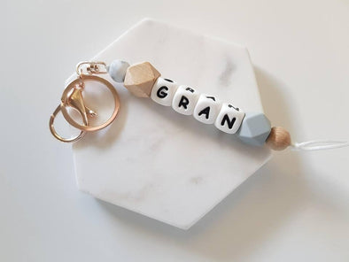 Gran Rose Gold Hexi Key Ring