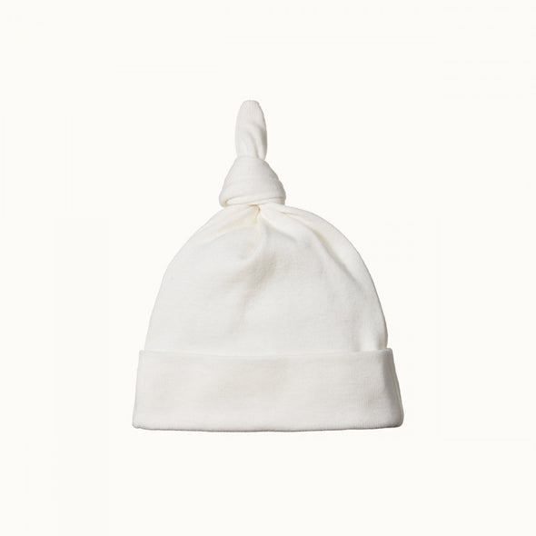 Nature Baby Cotton Knotted Beanie Natural