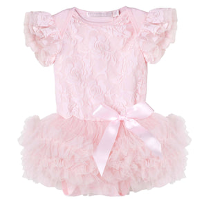 Libby Lace Romper Pink