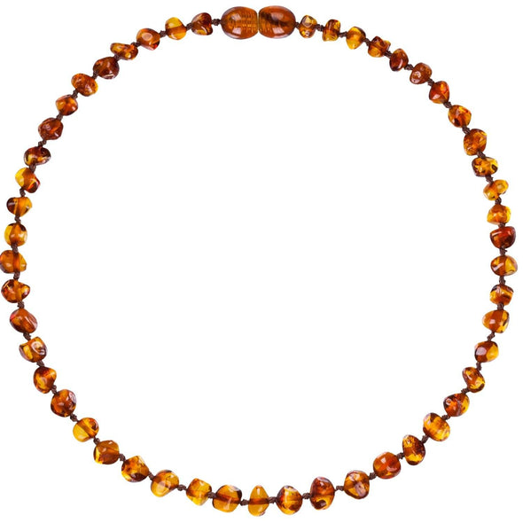 Amber Bud Necklace Cognac
