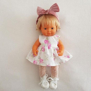 Lucy Doll Dress White Floral