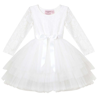 My First Lace Tutu Long Sleeve Ivory
