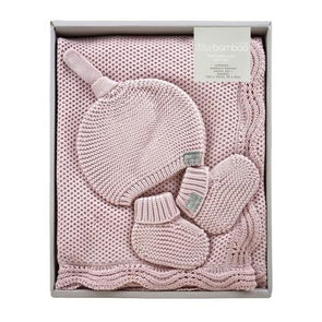 Little Bamboo Knit Gift Set Dusty Pink