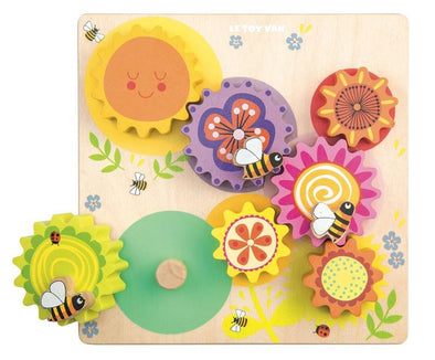 Petilou Gears & Cogs Busy Bee Learning Puzzle