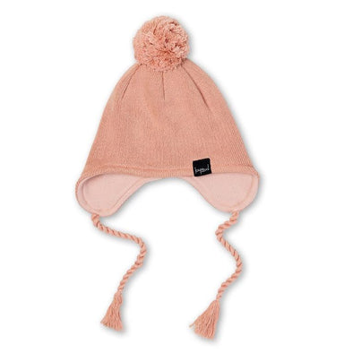 Kapow Kids Knit Pom Pom Beanie Dusty Rose