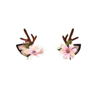 Arch N Ollie Reindeer Blossom Clips