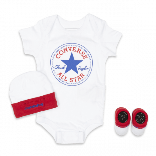 Converse Newborn Classic 3pc Set White