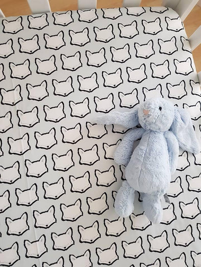 Clever Fox Fitted Cot Sheet