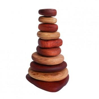 In-Wood Stacking Stones 10 pcs Natural