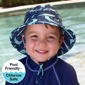 Crocodile Beach Swim Hat UPF50+