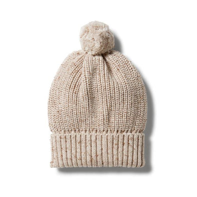 Wilson & Frenchy Knitted Hat Oatmeal Fleck