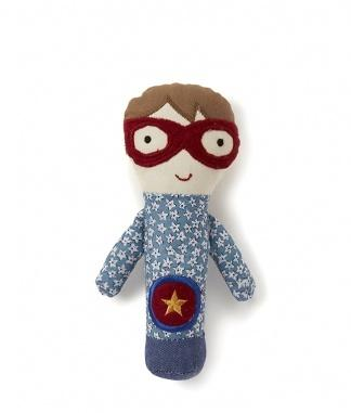 Super Boy Baby Rattle