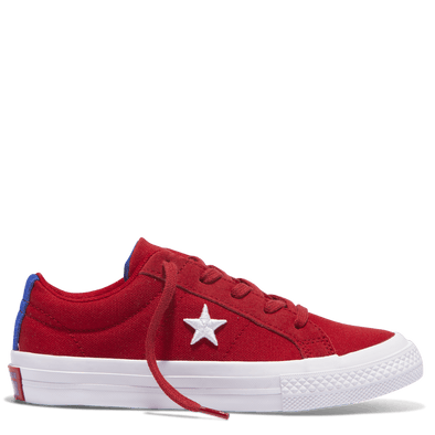 Converse Junior Country Pride Low Top Gym Red