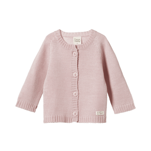 Nature Baby Merino Knit Cardigan Rose Bud