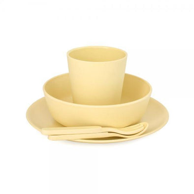 Bobo & Boo Bamboo Dinner Set Sunshine